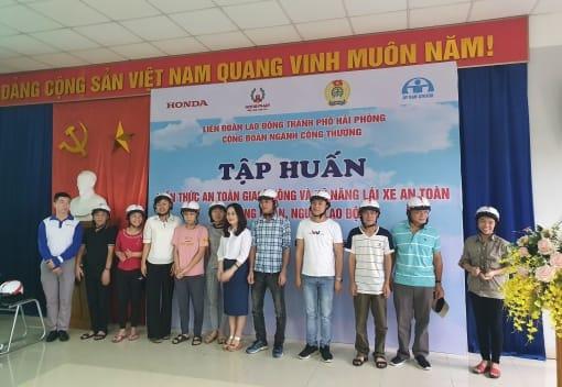 Công đoàn ngành Công Thương Hải Phòng Tập huấn an toàn giao thông trong CNLĐ