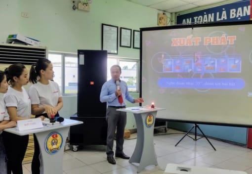 """Game show """"Vượt thử thách"""" chào mừng kỷ niệm 91 năm Ngày thành lập Công đoàn Việt Nam tại công ty TNHH Lihit Lab Việt Nam"""