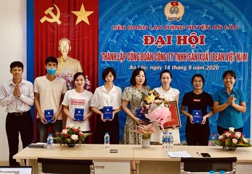 Liên đoàn Lao động huyện An Lão tổ chức Đại hội thành lập công đoàn cơ sở