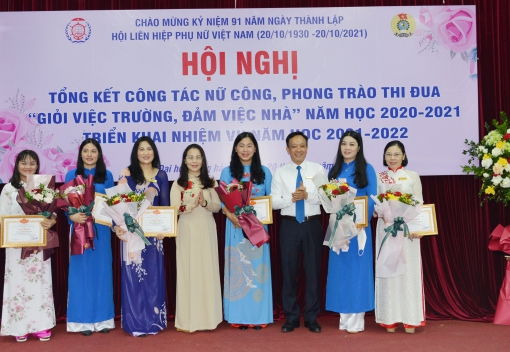 """Công đoàn Trường Đại học Hàng hải Việt Nam tổng kết công tác nữ công, phong trào thi đua """"Giỏi việc trường, đảm việc nhà"""""""