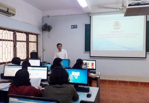 Liên đoàn Lao động quận Lê Chân tổ chức tập huấn sử dụng phần mềm quản lý đoàn viên và đổi thẻ đoàn viên công đoàn