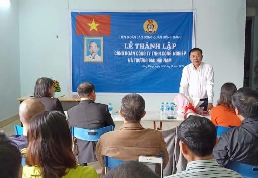 LĐLĐ quận Hồng Bàng tổ chức lễ thành lập Công đoàn