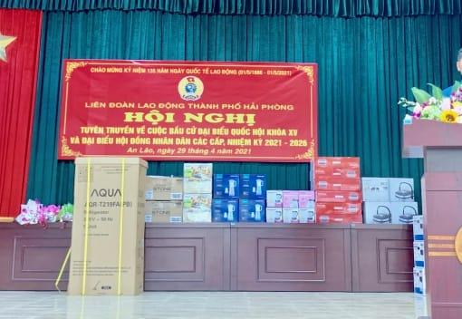 Liên đoàn Lao động huyện An Lão tuyên truyền Luật bầu cử Đại biểu Quốc hội và đại biểu HĐND các cấp