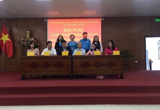 Phấn đấu 100% cán bộ công chức, viên chức, người lao động, đoàn viên công đoàn quận Hồng Bàng thực hiện văn hóa công sở