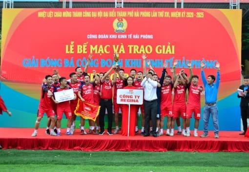 Lễ Bế mạc và trao giải Giải bóng đá Công đoàn Khu Kinh te Hezu Cup 2020