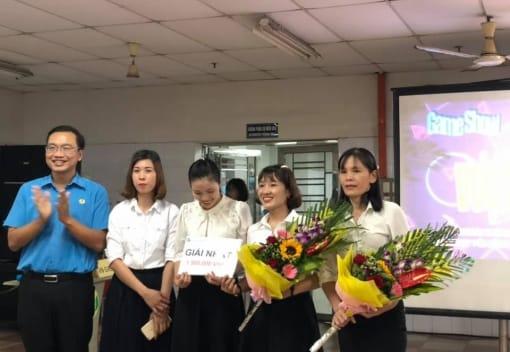 """Chương trình Game show """"Vượt thử thách"""" tại công ty TNHH Ojitex chào mừng ngày phụ nữ Việt Nam 20/10"""